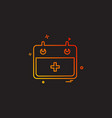 Hospital calender date day icon design