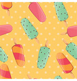 Ice cream seamless pattern summer background vector image vector image