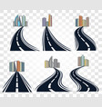 isolated abstract road with dividing marking and vector image vector image