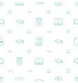 knowledge icons pattern seamless white background vector image vector image