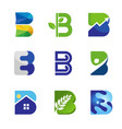 letter b with colorful style color logo vector image