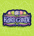 logo for hard candy vector image