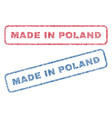 made in poland textile stamps vector image