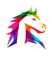 majestic horse logo vector image vector image