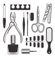 manicure and pedicure equipment objects vector image vector image