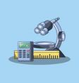 microscope tool icon vector image vector image