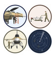 military airplane repair and maintenance vector image vector image