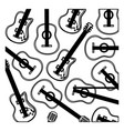 monochrome background with electric guitars set vector image