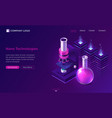 nano technologies science isometric landing page vector image vector image