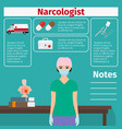 narcologist and medical equipment icons vector image vector image