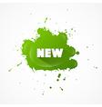 New Title on Green Splash vector image vector image
