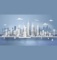 new york city panorama skyline vector image