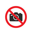 no photography sign images vector image vector image
