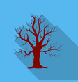 oak icon in flate style for web vector image vector image