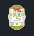 olive oil retro vintage background label vector image vector image