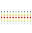 person stress strike shape halftone spectrum grid vector image