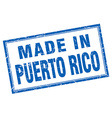 Puerto Rico blue square grunge made in stamp vector image vector image