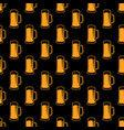seamless beer pattern vector image vector image