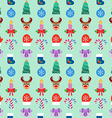 Seamless Christmas colorful background Flat design vector image vector image