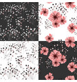 seamless pattern for floral design petunia flower vector image vector image