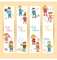 set banners with kids vector image