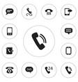 set of 12 editable gadget icons includes symbols vector image vector image
