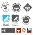 Set of retro carpet cleaning labels and emblems vector image vector image