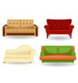 set sofa vector image vector image