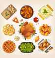 traditional thanksgiving dinner vector image vector image