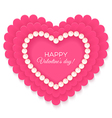 Valentines heart isolated on white background vector image vector image