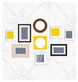Vintage picture frame vector image vector image
