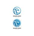 wave circle logo premium vector image vector image