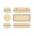 stock template box for chicken eggs vector image