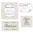 vintage wedding invitation template vector image