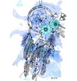 Indian Dream catcher in a sketch style vector image