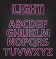 neon letters isolated on gray vector image