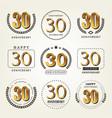 30 years anniversary logo set vector image