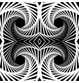 abstract mirrored vortex background pattern vector image vector image