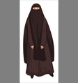 arabic woman wearing hijab and veil muslim vector image