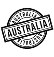 Australia rubber stamp vector image