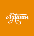 autumn calligraphic text vector image vector image