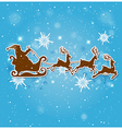 Blue Christmas background with Santa Claus vector image vector image