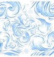 Blue sea wave Seamless background texture vector image vector image