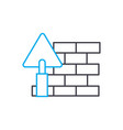 brick setting thin line stroke icon brick vector image vector image