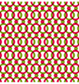 Bright dotted seamless pattern with red and green vector image