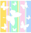 butterfly wallpaper vector image vector image