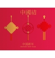 Chinese knot and New Year decor element vector image