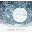 Christmas Background with Christmas Ball Symbol an vector image vector image