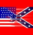 civil war flag blend vector image vector image