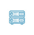computer equipment linear icon concept computer vector image